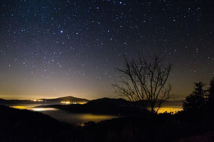 Ciel étoilé entre Génolhac et Portes ©Olivier Prohin PNC